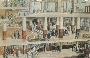 Train Station postcard New York City NY, Church Street Terminal interior 1910
