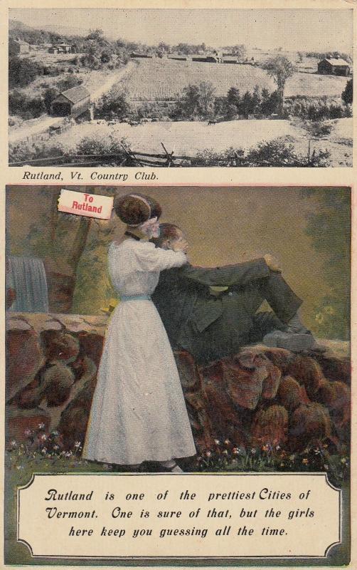 RUTLAND , Vermont , 1900-10s ; Country Club ; Couple