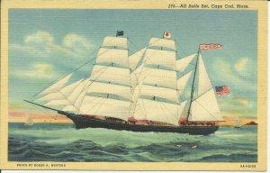Cape Cod, Mass., All Sails Set