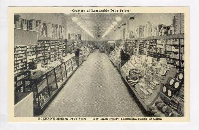 Eckerd's Modern Drug Store (Interior), Columbia, South Carolina, 1900-1910s