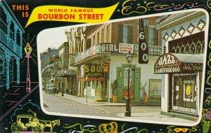 NEW ORLEANS, Louisiana, 1940-60s; World Famous Bourbon Street