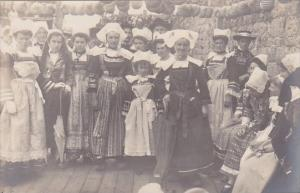 Spain Locals In Traditional Costume Real Photo