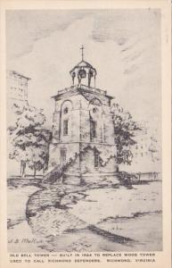 Virginia Richmond The Old Bell Tower Albertype