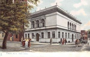 Troy New York~Victorian Ladies & Gents at Public Library~1905 Postcard~TUCK