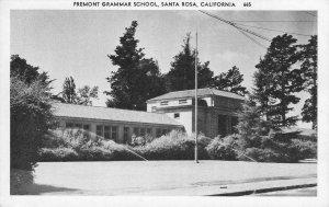 SANTA ROSA, CA Fremont Grammar School ca 1940s Vintage Postcard