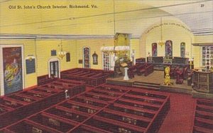 Old Saint Johns Church Interior Richmond Virginia