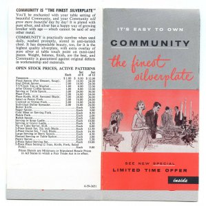 Community The Finest Silverplate Vintage 1959 Brochure Price List