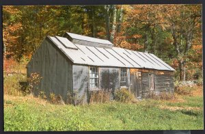 New Hampshire New England Countryside Maple Sugar House in Autumn  1950s-1970s