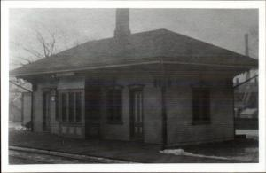 Weir Village Taunton MA RR Train Station REPRODUCTION Real Photo Postcard