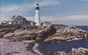 Portland Head Light, Lightouse, Built in 1790, Casco Bay, Portland, Maine, 40...