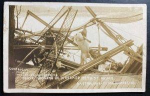 Mint USA RPPC Postcard Dayton Ohio Flood 1913 Horse Hanging 5th St Bridge