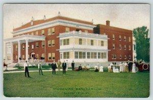 Shakopee MN Patrons Gather Outside For Fresh Air~Mudcura Sanitarium~1914 PC