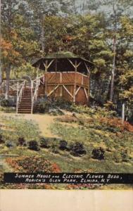 Summer House and Electric Flower Beds Rorick's Glen Park Elmira New York