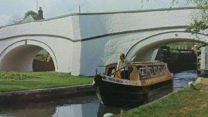 Vintage Postcard Narrowboat Barge Water Gentian Grand Union Canal Stoke Bruerne