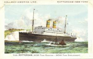 Holland America Line Steamer T.S.S. Rotterdam (1930s)