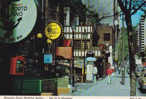 Shops on Mountain Streat, Montreal, Quebec, Canada, 50-70's