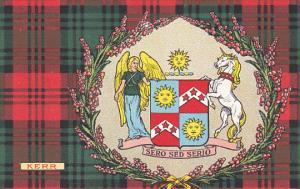 Tarton & Clan Coat of Arms , SCOTLAND , 00-10s ; Clan Kerr , Unicorn & Angel