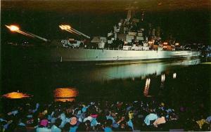 Wilmington~USS North Carolina~Iwo Jima Bombardment~Night Bombs~1960s