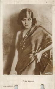 Actress Pola Negri pierced postcard