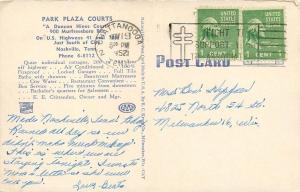 Nashville Tennessee~Park Plaza Courts~Motel~Inside Out~ART DECO~Linen Postcard