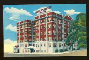 Early Jacksonville, Florida/FL Postcard, Ambassador Hotel