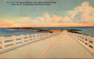 Florida Keys Overseas Highway From Bahia Honda Bridge 1959 Curteich