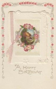 WINSCH ; Birthday Booklet Postcard , House Scene & Flowers, 00-10s