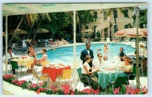 NASSAU, BAHAMAS ~ Swimming Pool ROYAL VICTORIA HOTEL 1955 Roadside Postcard