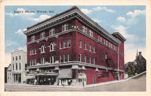 Wabash Indiana~Modern Heating in Eagle's Club Theatre~FOE Postcard 1920s