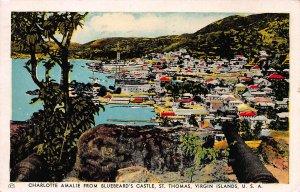 Charlotte Amalie, St. Thomas, U.S. Virgin Islands, Early Postcard, Used in 1949