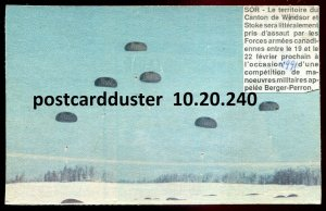 240 - WINDSOR & STOKE Quebec Postcard 1950s Military Paratroopers
