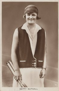 Betty Nuthall Actress Tennis Player 1920s Real Photo Postcard