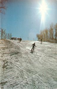 Galena Illinois~Chestnut Mountain Ski Resort~Downhill~1960s postcard