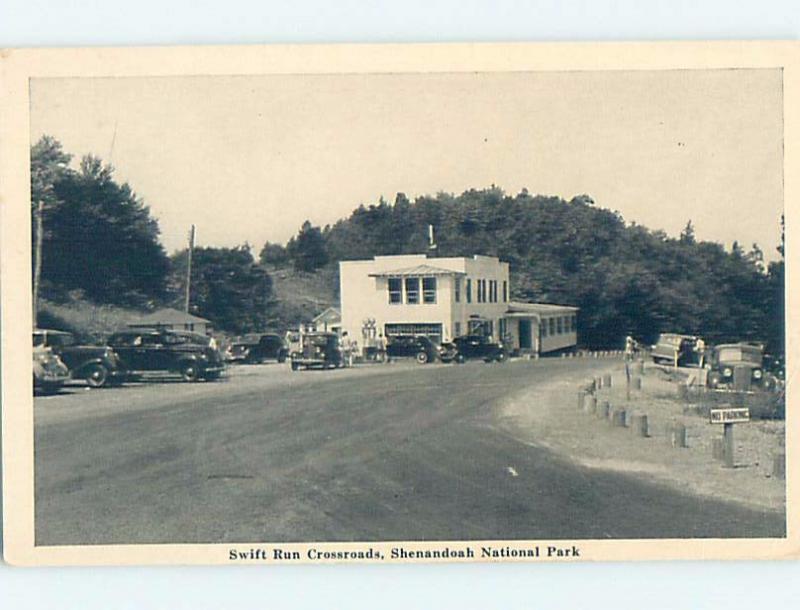 1940's SWIFT RUN CROSSROADS GAS STATION Shenandoah Park Harrisonburg VA G1508-22