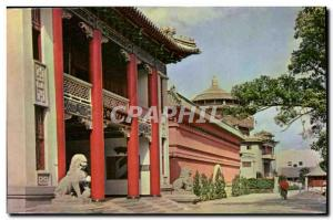 Postcard Old National Historical Museum Science Hall in the Botanical Garden ...