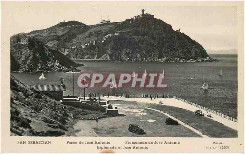 Postcard Old San Sebastian Paseo Promenade Jose Antonio Jose Antonio Espana M...