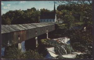 Covered Bridge,New England Postcard