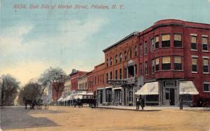 Potsdam NY Horse-Drawn Taxi in Front of the Arlington Hotel~Corner Turret~1914