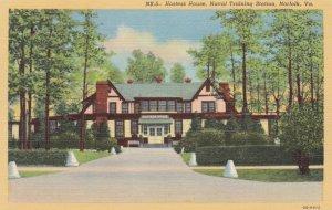 Virginia Norfolk U S Naval Training Station Hostess House 1940 Curteich
