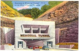 Entrance to Memorial Tunnel, West Virginia Turnpike, WV, Linen