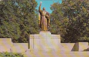 Indiana Gary Jacques Marquette Statue Marquette Park