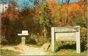 Virginia postcard Peaks of Otter Blue Ridge Mountains - Elk Run Trail
