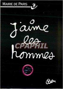 Postcard Modern City of Paris I Love Paris Men Fight AIDS Condom
