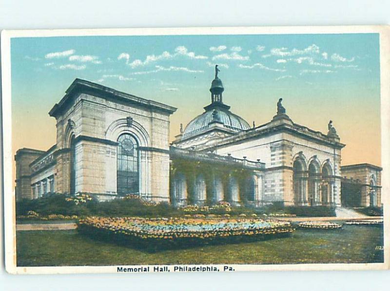 Unused W-Border MEMORIAL HALL Philadelphia Pennsylvania PA H5433