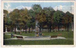 Lewiston, Me, City Park
