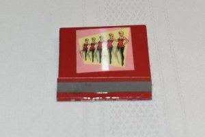 Gaslight Club Paris France Girls Chorus Line 30 Strike 3D Matchbook