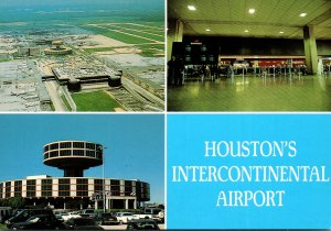 Texas Houston Intercontinental Airport Aerial View Marriott Hotel & Inside Te...