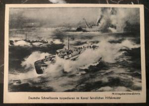 Mint Germany Picture Postcard PPC Fast Boat S Boat Schnellboat Battle WW2