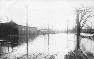Battle Creek Michigan~Flood Scene~Milk Producers Company under Water~1908 RPPC