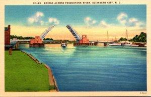 North Carolina Elizabeth City Bridge Across Pasquotank River